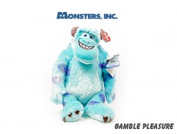 Pluche knuffel Sully van Monsters INC. 50cm