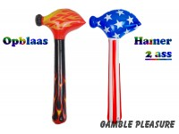 "Opblaas hamers ""Flames and Stripes""  80cm"