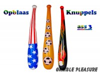 "Opblaas knuppels ""Flames and Stripes""  90cm"